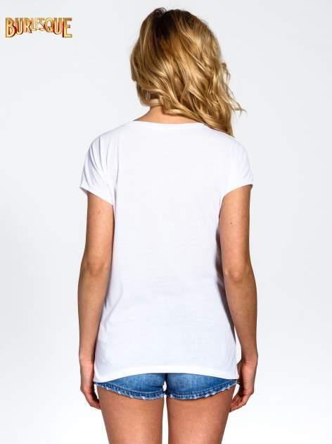 Biały t-shirt z napisem NO MORE PARTY WITHOUT ME                                  zdj.                                  4
