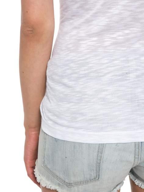 Biały t-shirt z napisem ROUTE NEW YORK                                  zdj.                                  11