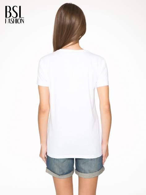 Biały t-shirt z napisem THE NEW ICONS                                  zdj.                                  4