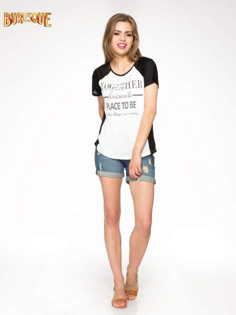 Biały t-shirt z napisem TOGETHER IS MY FAVOURITE PLACE TO BE                                  zdj.                                  2