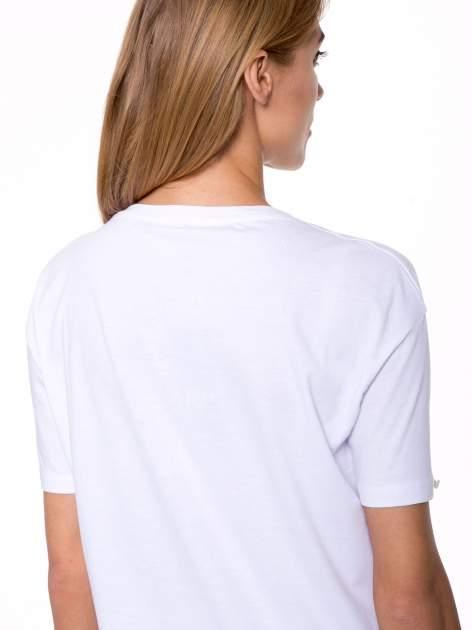 Biały t-shirt ze złotym nadrukiem HOMIES SOUTH CENTRAL                                  zdj.                                  9