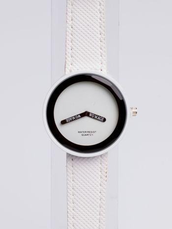 Biały zegarek damski na pasku                                  zdj.                                  2