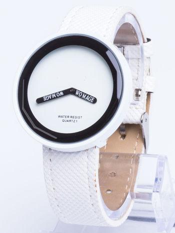 Biały zegarek damski na pasku                                  zdj.                                  1