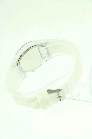 Biały zegarek damski na silikonowym pasku                                  zdj.                                  3