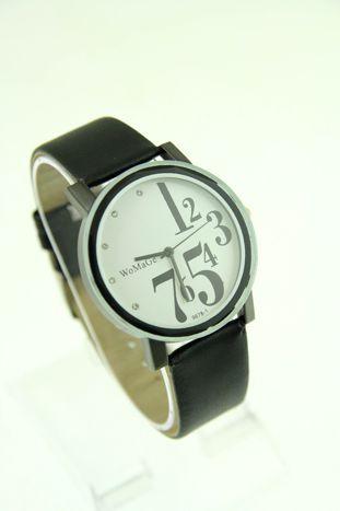 Biały zegarek damski z cyrkoniami na pasku                                  zdj.                                  1