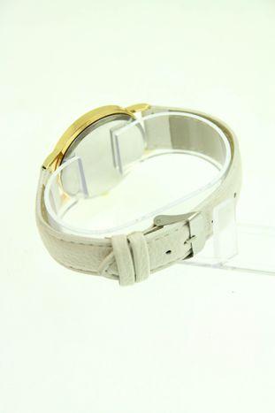 Biały zegarek damski z sową na skórzanym pasku                                  zdj.                                  3