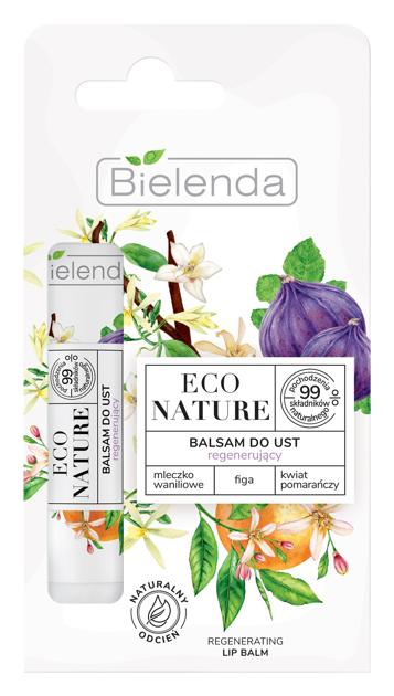 """Bielenda Eco Nature Balsam do ust regenerujący z mleczkiem waniliowym - Figa i Kwiat Pomarańczy  10g"""""""