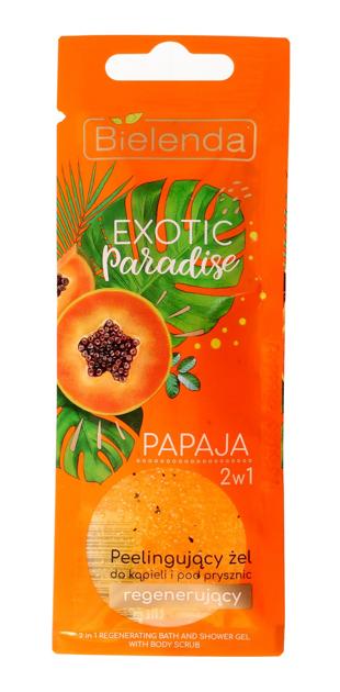 Bielenda Exotic Paradise Żel peelingujący do ciała 2w1 regenerujący Papaja 25 g