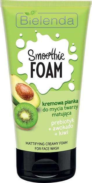 Bielenda Smoothie Care Kremowa Pianka do mycia twarzy matująca - Awokado i Kiwi 135g