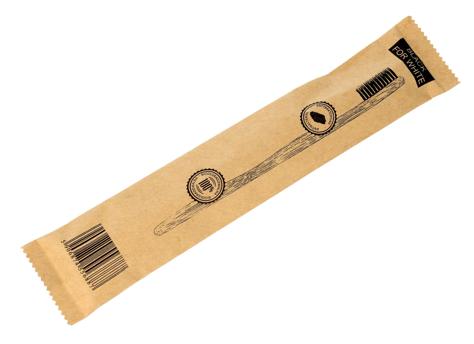"""Biomika Black for White Szczoteczka bambusowa do zębów z aktywnym węglem miękka  1szt"""""""
