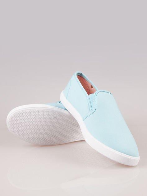 Błękitne buty slip-on                                  zdj.                                  4