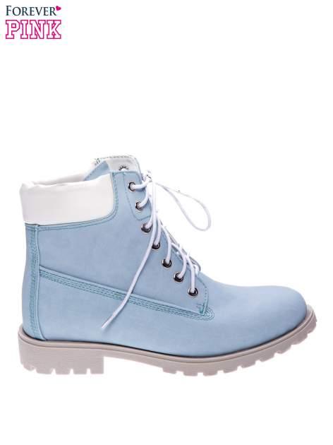 Błękitne buty trekkingowe damskie typu trapery                                  zdj.                                  1
