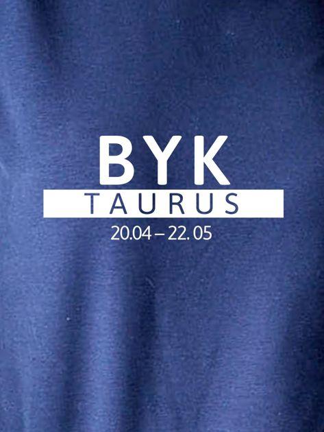 Damska bluza ze znakiem zodiaku BYK granatowa                                  zdj.                                  2