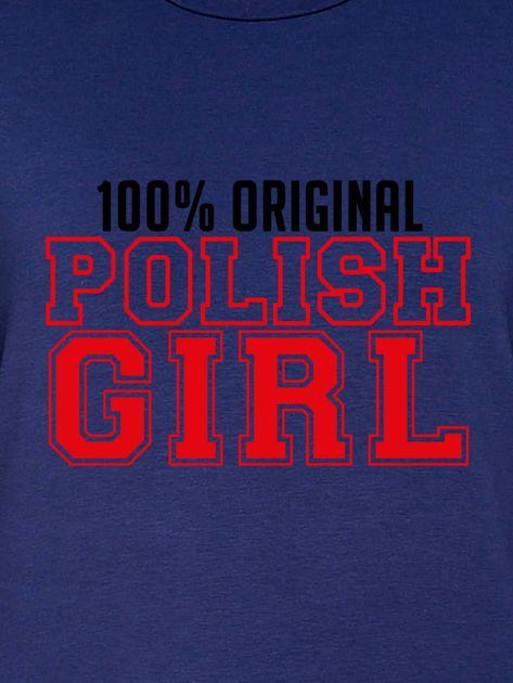Bluza damska 100% ORIGINAL POLISH GIRL granatowa                              zdj.                              2