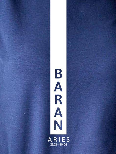 Bluza damska BARAN znak zodiaku granatowa                              zdj.                              2