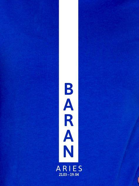 Bluza damska BARAN znak zodiaku kobaltowa                              zdj.                              2
