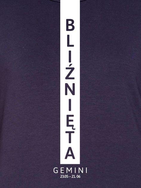 Bluza damska BLIŹNIĘTA znak zodiaku grafitowa                                  zdj.                                  2