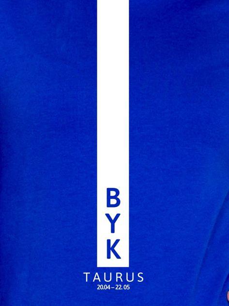 Bluza damska BYK znak zodiaku kobaltowa                              zdj.                              2