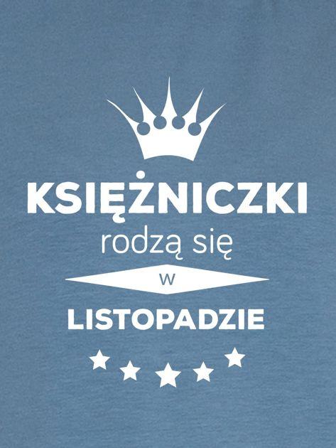 Bluza damska KSIĘŻNICZKI z nadrukiem korony niebieska                              zdj.                              2