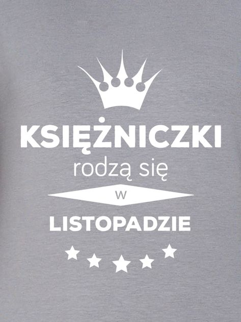 Bluza damska KSIĘŻNICZKI z nadrukiem korony szara                              zdj.                              2