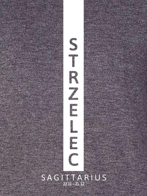 Bluza damska STRZELEC znak zodiaku ciemnoszara                                  zdj.                                  2