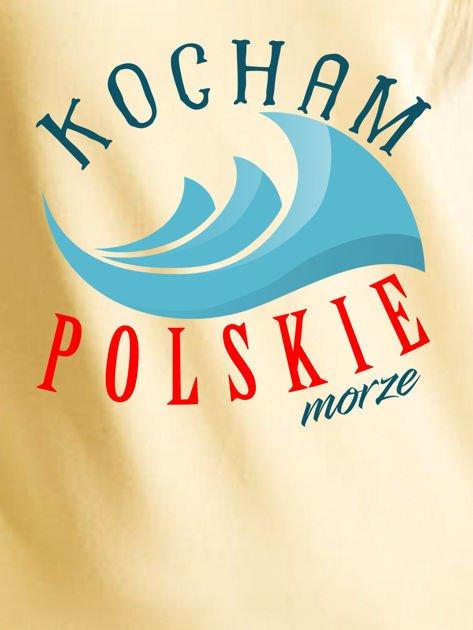 Bluza damska patriotyczna KOCHAM POLSKIE MORZE żółta                              zdj.                              2