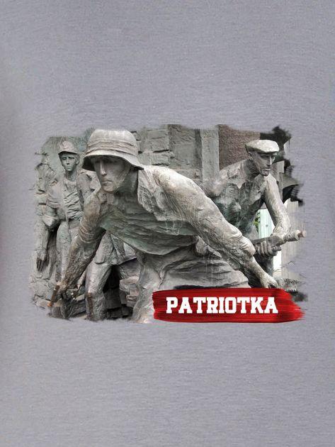 Bluza damska patriotyczna PATRIOTKA z nadrukiem szara                              zdj.                              2