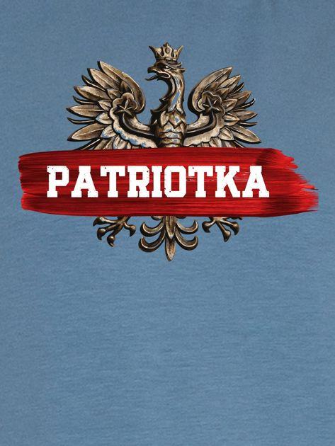 Bluza damska patriotyczna z Orłem Białym PATRIOTKA niebieska                              zdj.                              2