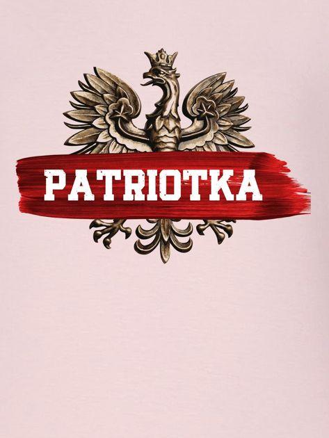 Bluza damska patriotyczna z Orłem Białym PATRIOTKA różowa                                  zdj.                                  2