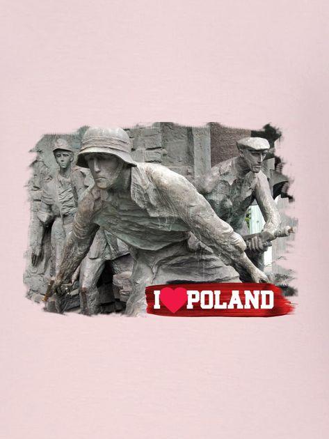 Bluza damska patriotyczna z grafiką I LOVE POLAND różowa                                  zdj.                                  2