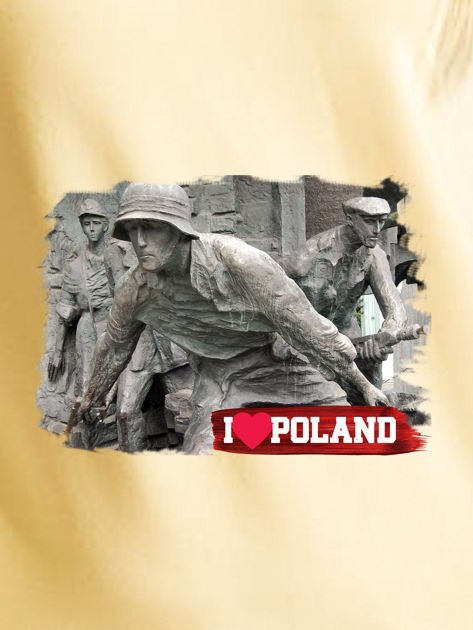 Bluza damska patriotyczna z grafiką I LOVE POLAND żółta                              zdj.                              2