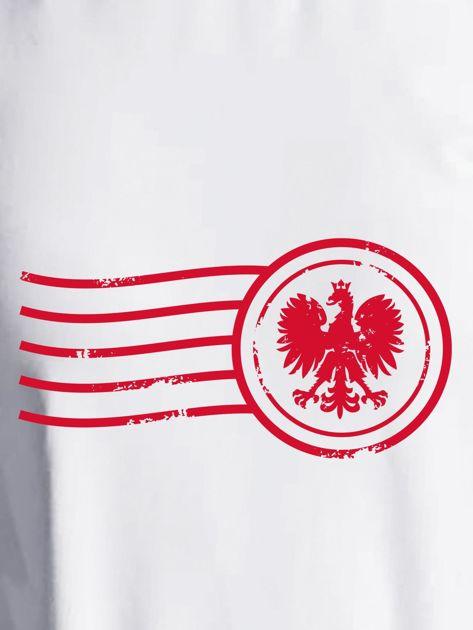 Bluza damska patriotyczna z nadrukiem Orła Białego ecru                                  zdj.                                  2