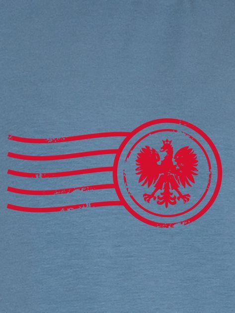 Bluza damska patriotyczna z nadrukiem Orła Białego niebieska                              zdj.                              2