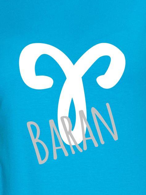 Bluza damska z motywem znaku zodiaku BARAN turkusowa                                  zdj.                                  2