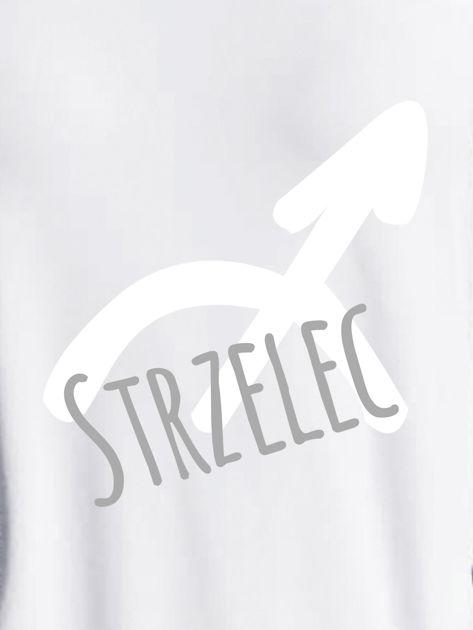 Bluza damska z motywem znaku zodiaku STRZELEC jasnoszara                              zdj.                              2
