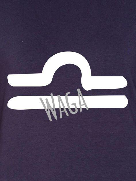 Bluza damska z motywem znaku zodiaku WAGA grafitowa                              zdj.                              2