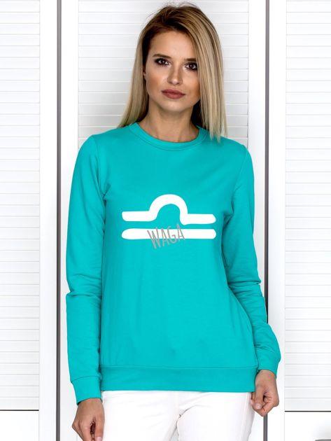 Bluza damska z motywem znaku zodiaku WAGA miętowa                              zdj.                              1