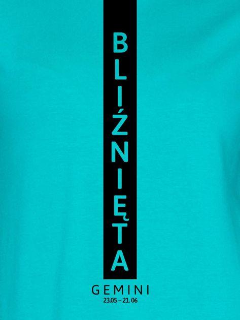 Bluza damska znak zodiaku BLIŹNIĘTA miętowa                              zdj.                              2