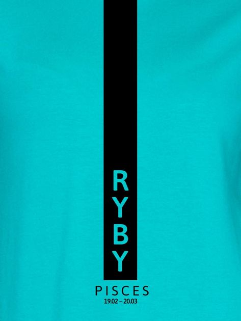 Bluza damska znak zodiaku RYBY miętowa                              zdj.                              2