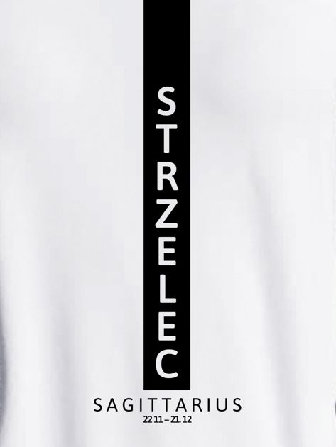 Bluza damska znak zodiaku STRZELEC jasnoszara                              zdj.                              2