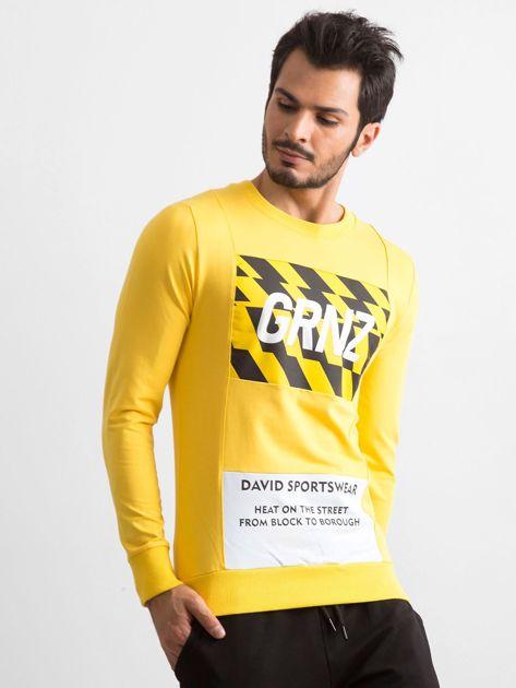 Bluza męska z nadrukiem żółta                              zdj.                              1