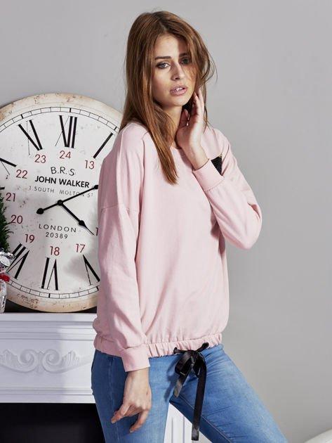 Bluza oversize z cekinowym kotem różowa                              zdj.                              5