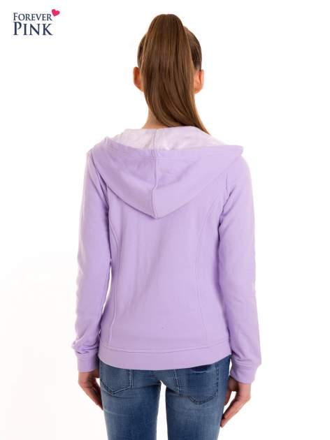 Bluza typu ramoneska w kolorze lila                                  zdj.                                  4