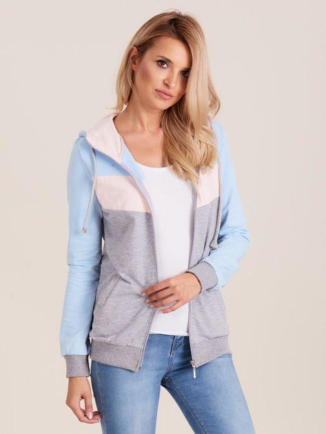 Bluza z kapturem trójkolorowa                              zdj.                              6