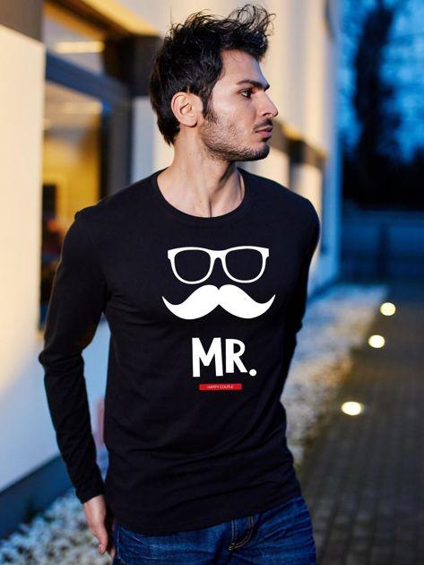 Bluzka czarna męska dla szczęśliwej pary MISTER                              zdj.                              1