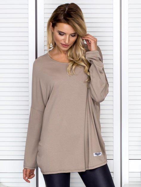Bluzka damska oversize beżowa                              zdj.                              1