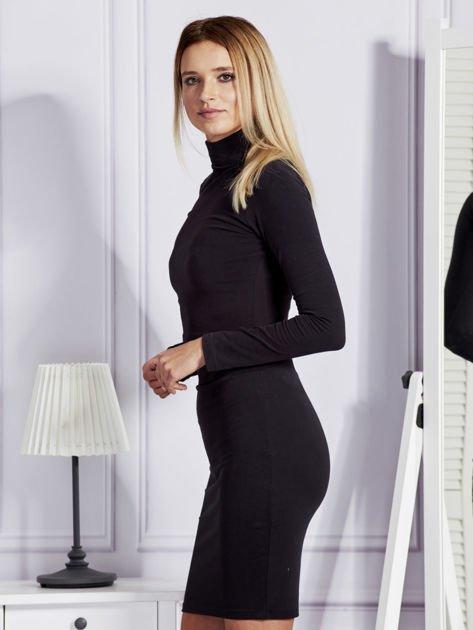 Bluzka damska z golfem czarna                              zdj.                              5