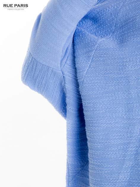 Bluzka o luźnym kroju w kolorze baby blue                                  zdj.                                  7
