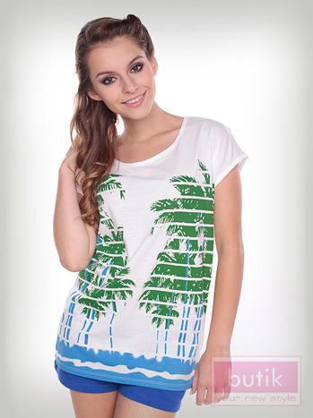 Bluzka palmy w paski