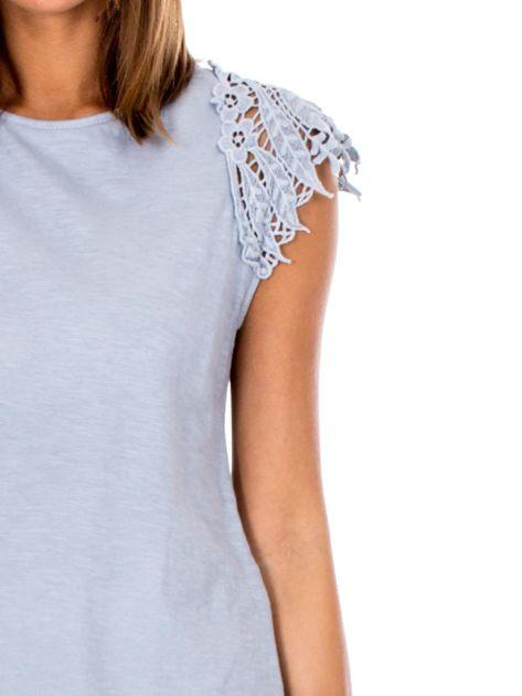 Bluzka szara z koronkowymi rękawami                              zdj.                              6